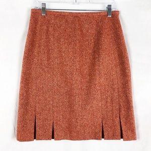Talbots Wool Blend Tweed Pencil Skirt Red Sz 8P